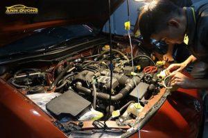 Vệ sinh, bảo dưỡng khoang máy ô tô Ánh Dương Detailing Q8