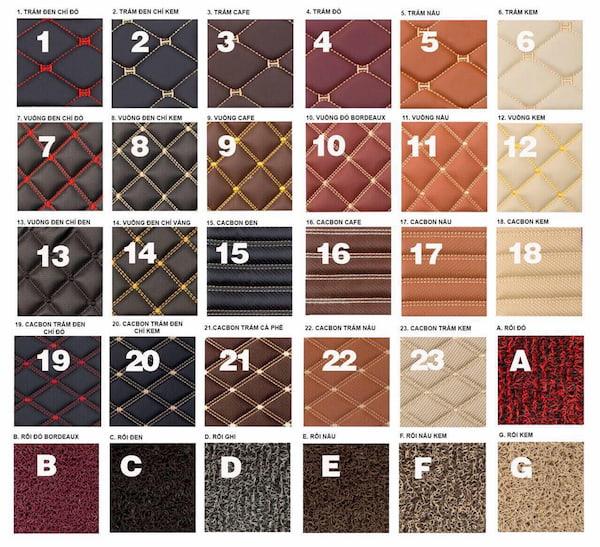 Các mẫu thảm sànô tô 6D